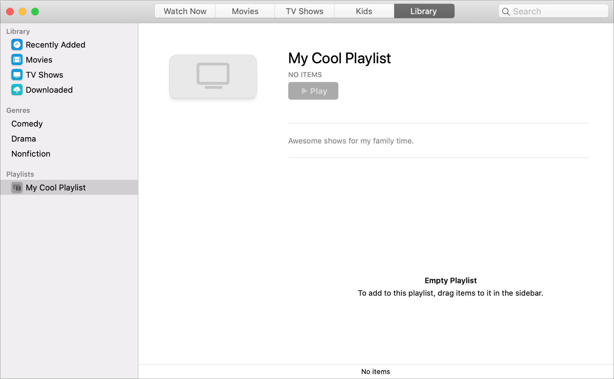 Create Playlist TV app Mac