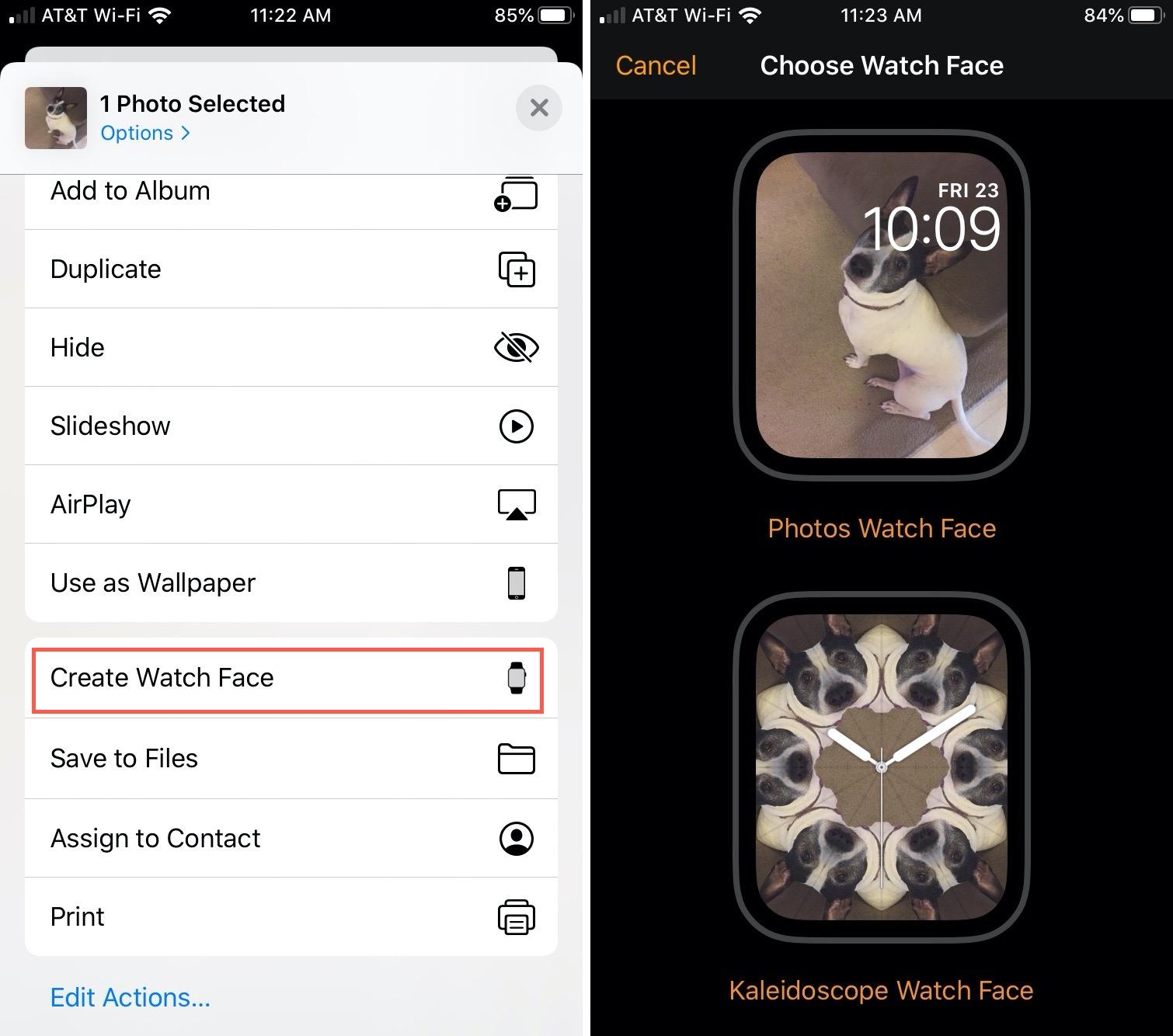 Create Watch Face Photos iPhone