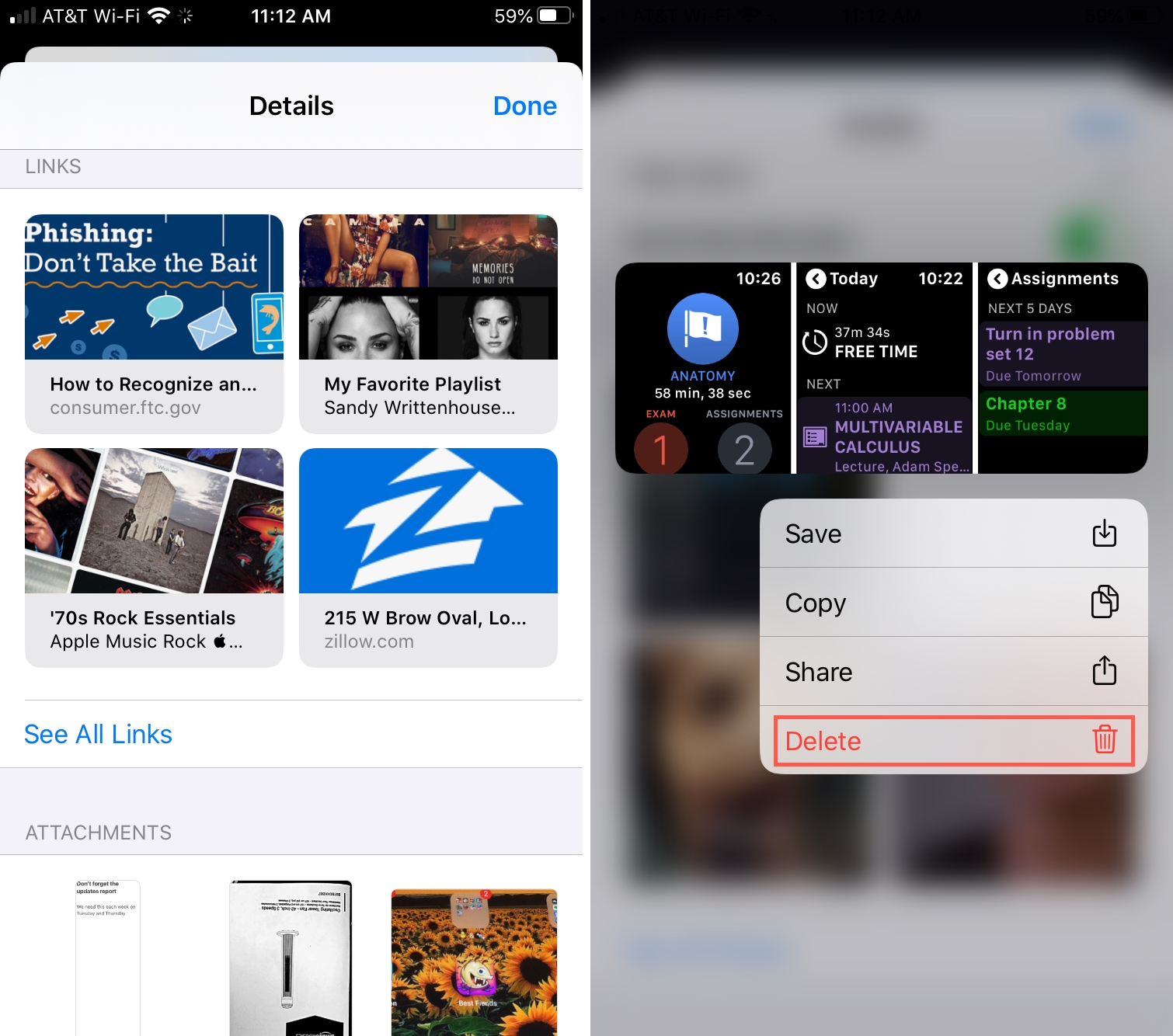 Delete Individual Item Messages iPhone