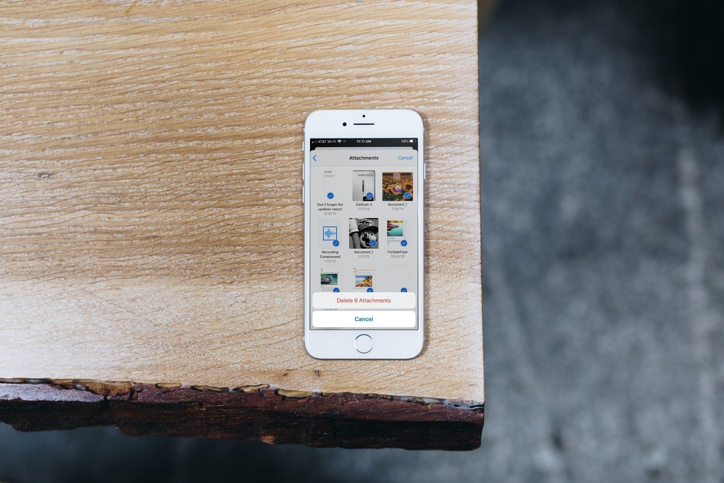 Delete Photos Links Attachments Messages iPhone