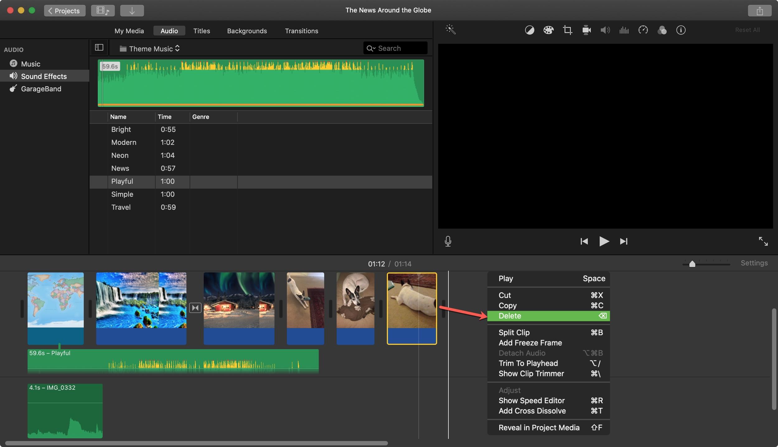 Delete Video iMovie Mac
