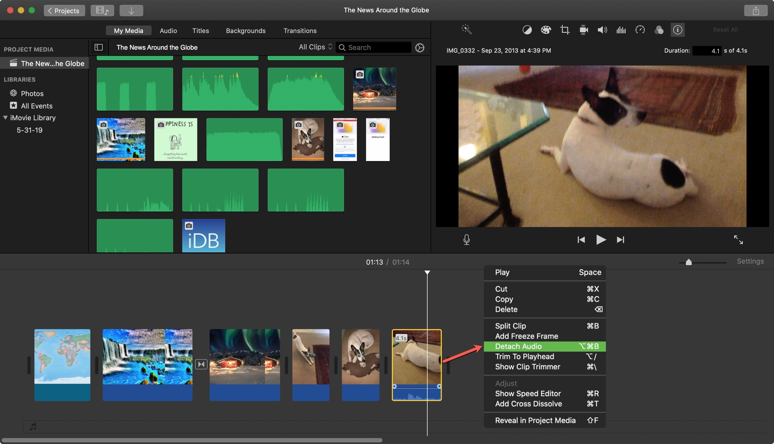 Detach Audio iMovie Mac