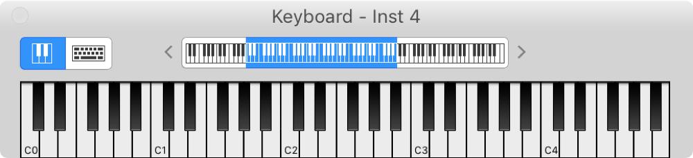 GarageBand Piano Keyboard Mac