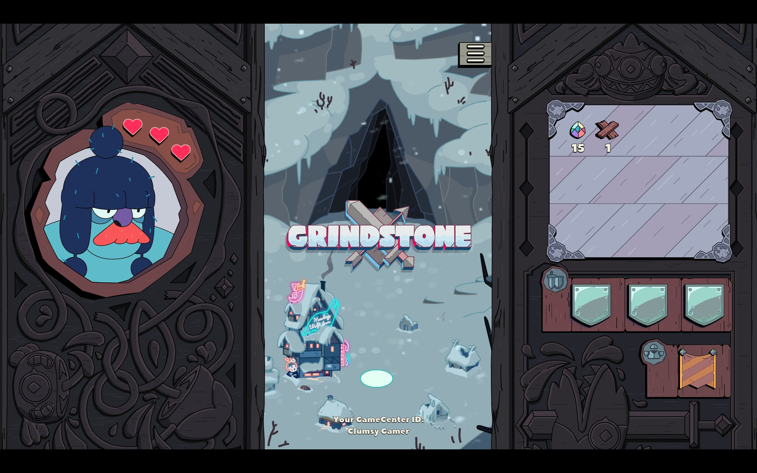 Grindstone main screen