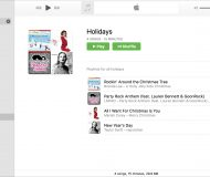 Holidays playlist folder Music Mac