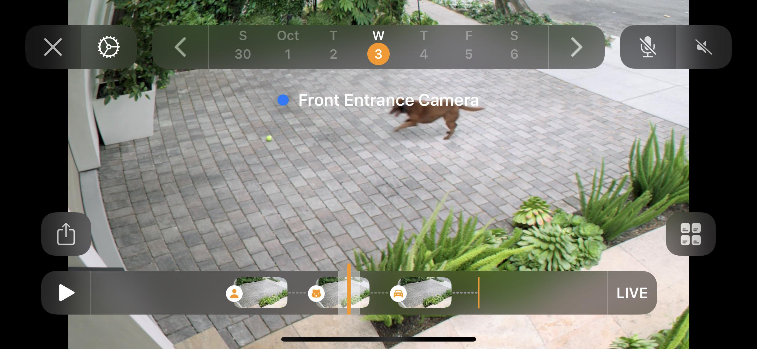 Image shows an early look at HomeKit's Secure Video UI
