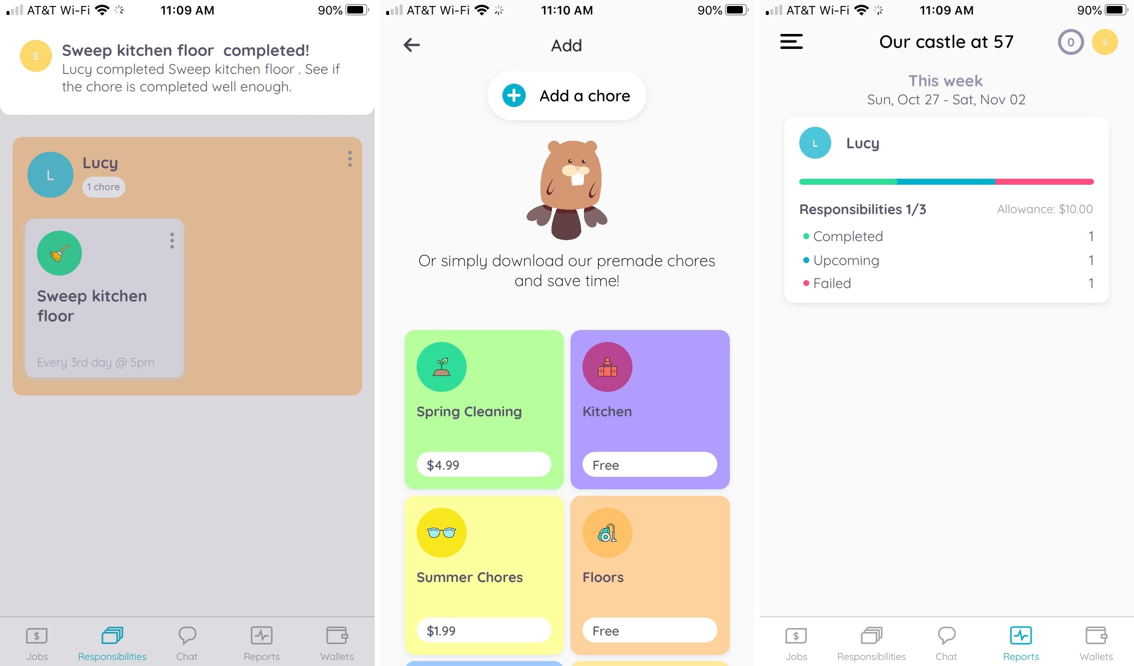 Homey iPhone chore app