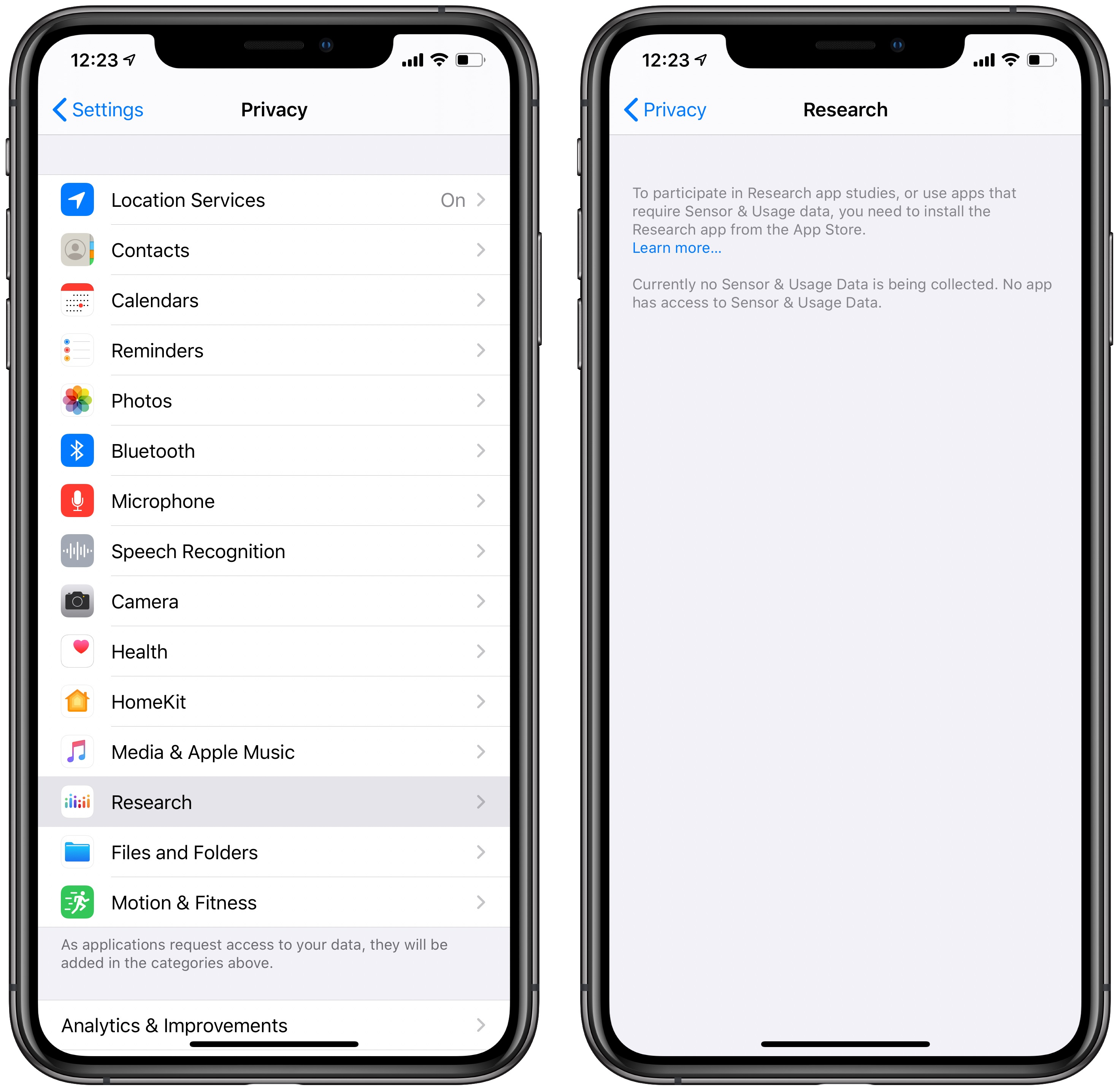 iOS 13.2 features tutorial: Research app privacy settings