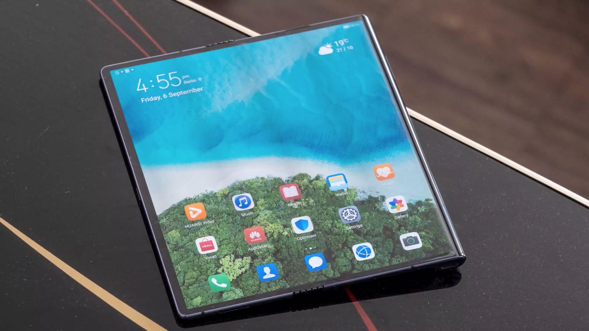 Huawei Mate X laid flat