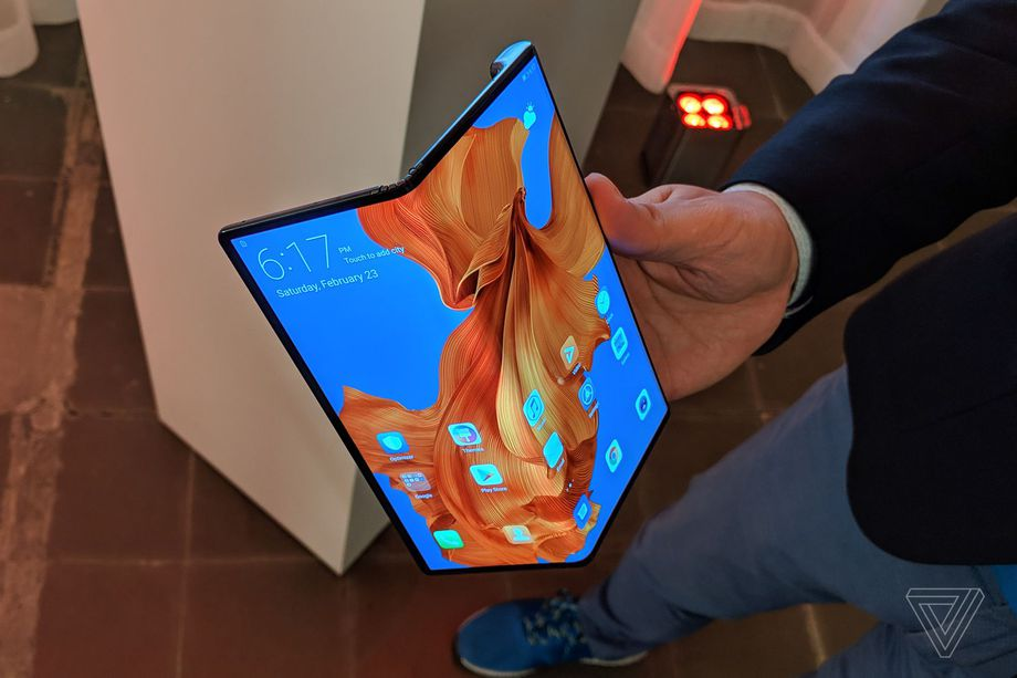 Huawei Mate X with a distinct fold