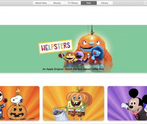Kids section TV app on Mac