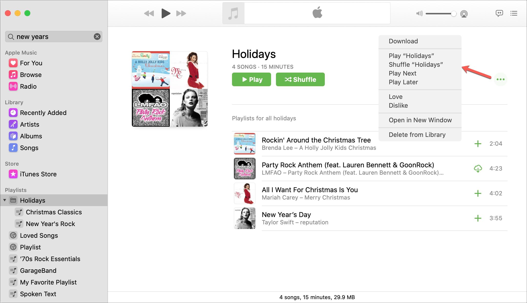 Manage playlist folder Music Mac