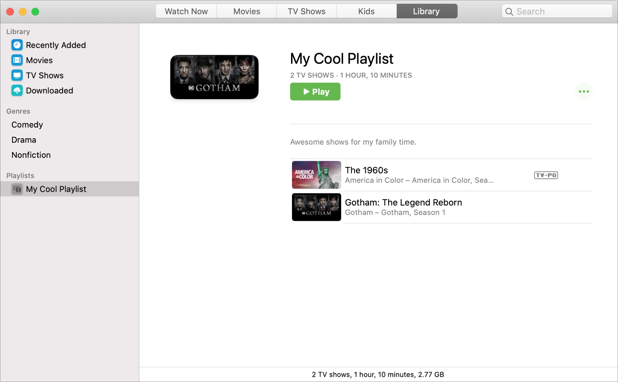 My Playlist TV app Mac