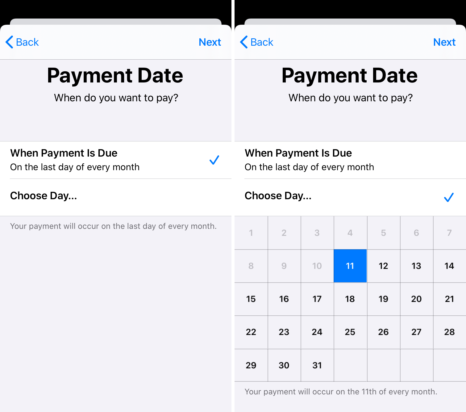 Payment Date for Apple Card