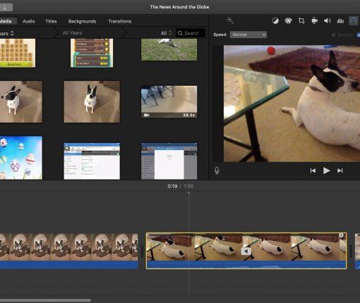 Play Backwards Video Clip in iMovie Mac