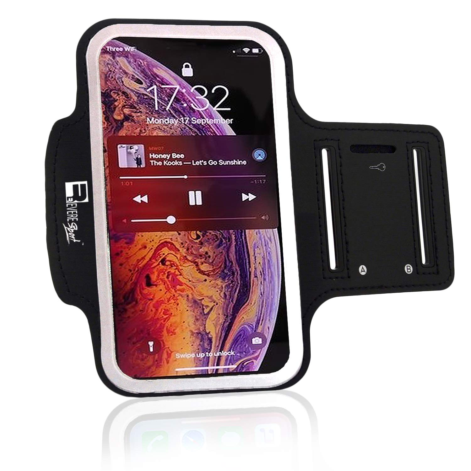 Purple Zebra Cell Phone Armband