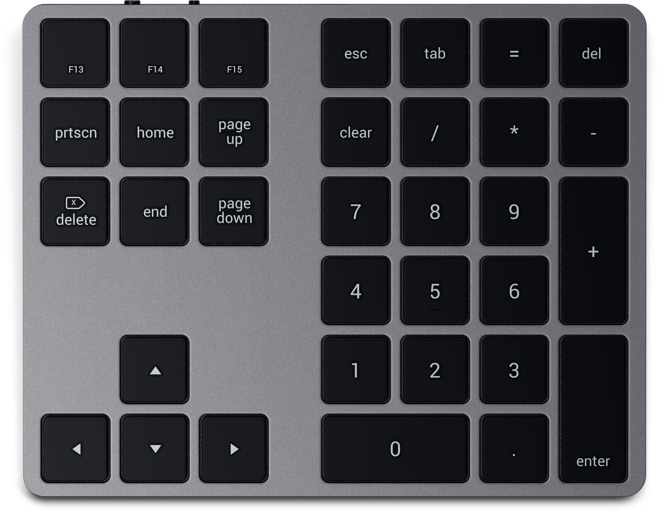 Satechi Bluetooth Extended Keypad, overhead image