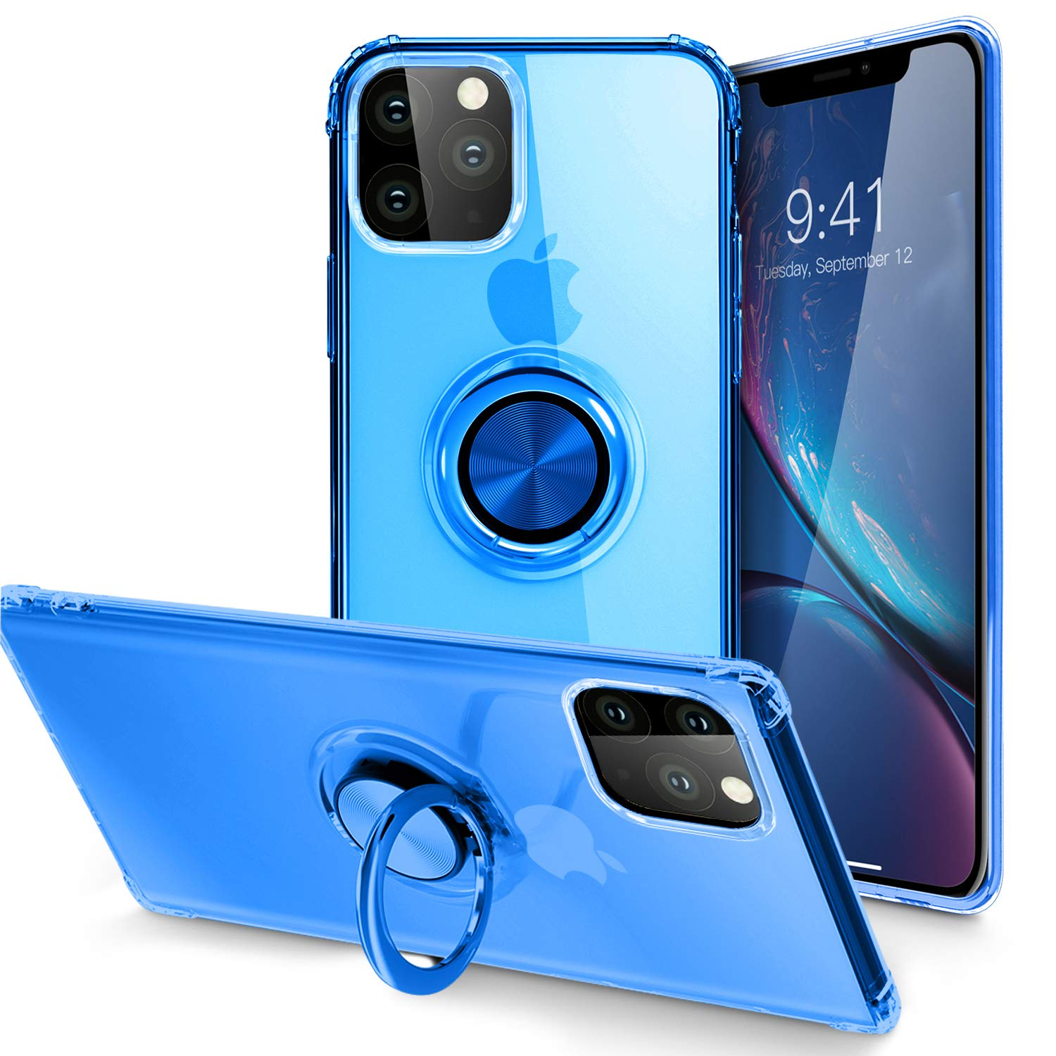 SQMCase keyring case for iPhone 11 in blue