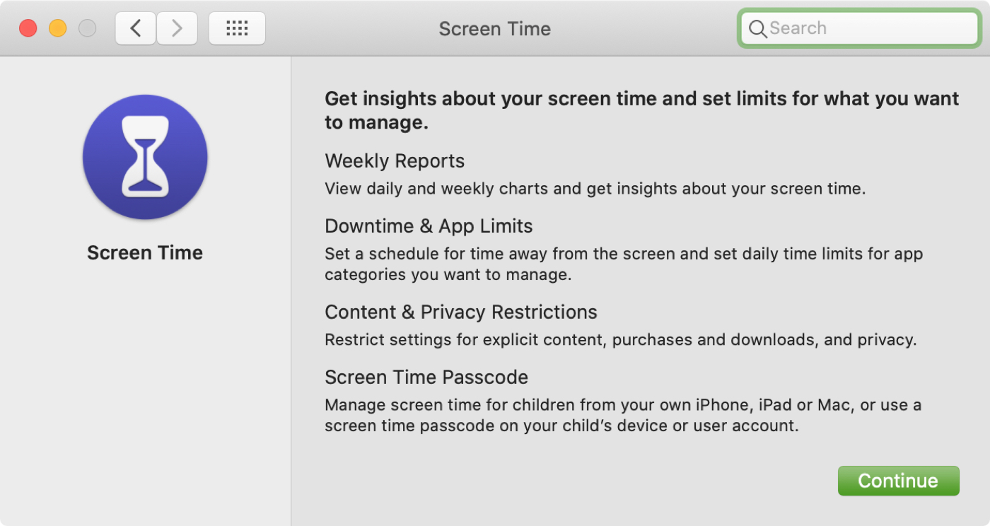 Screen Time on Mac