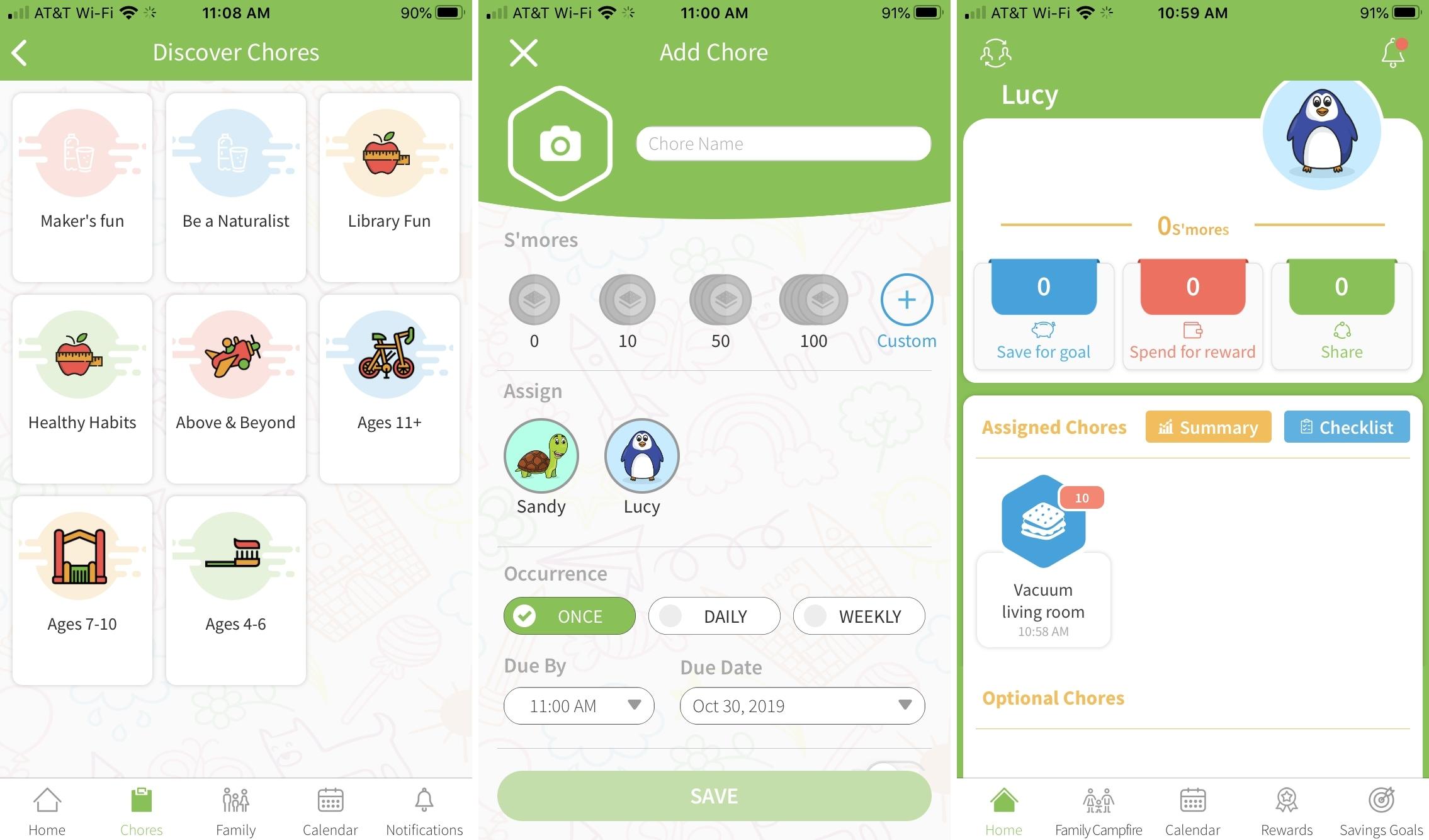 SmoresUp iPhone chore app