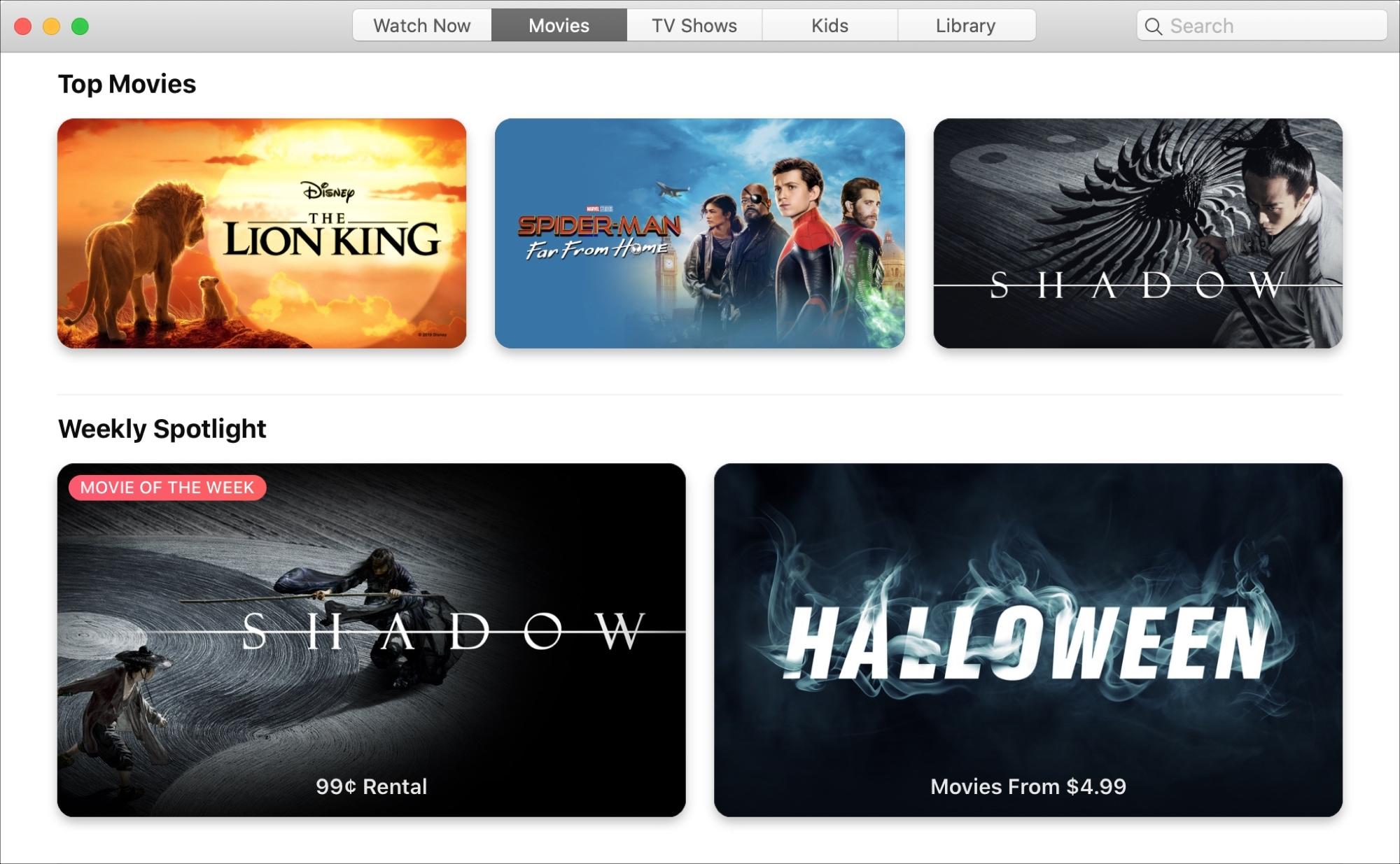 TV App Movies Mac