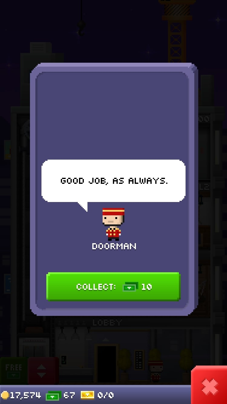 Tiny Tower - Collect Money