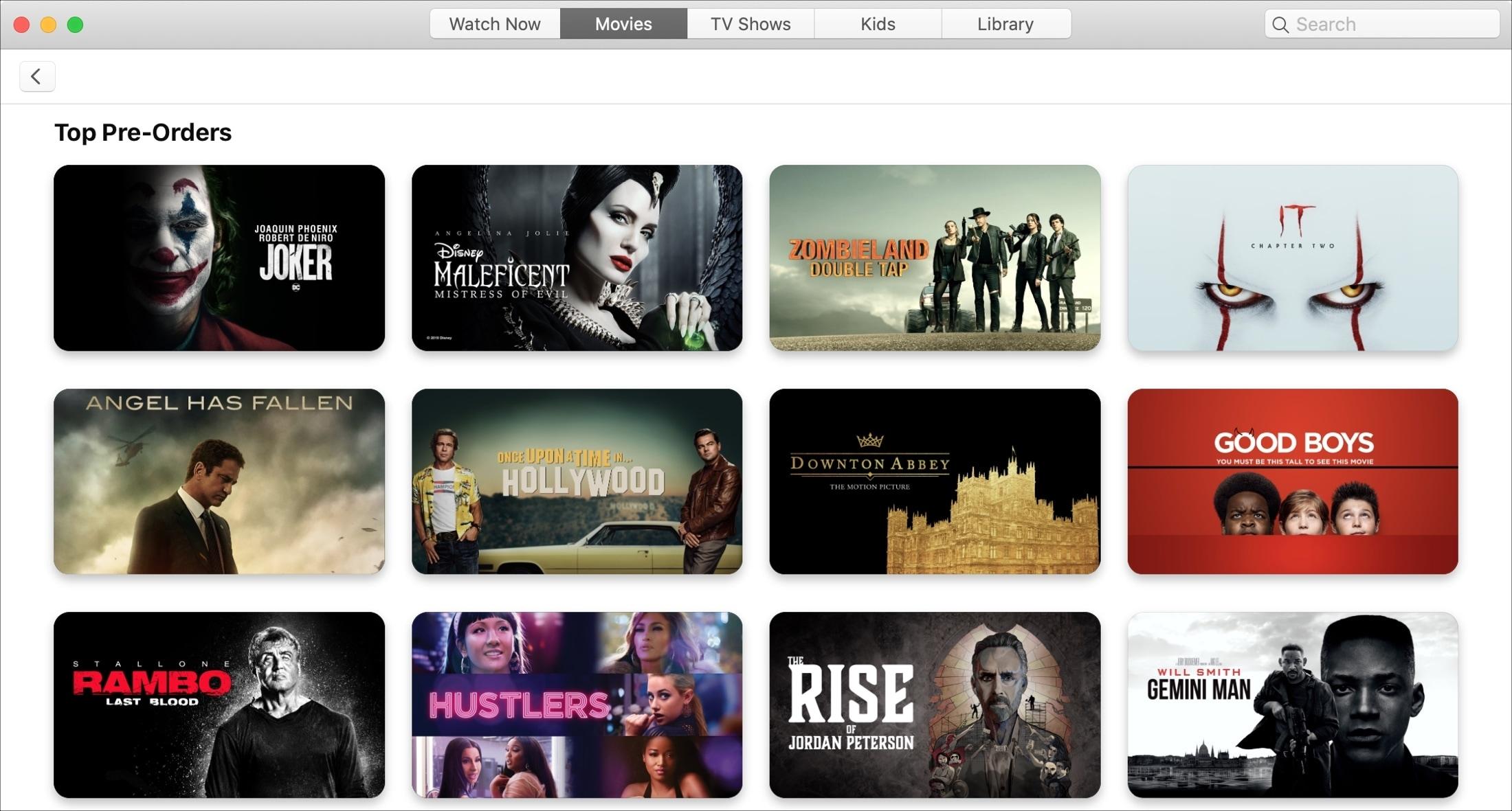 Top Preoders TV App Mac