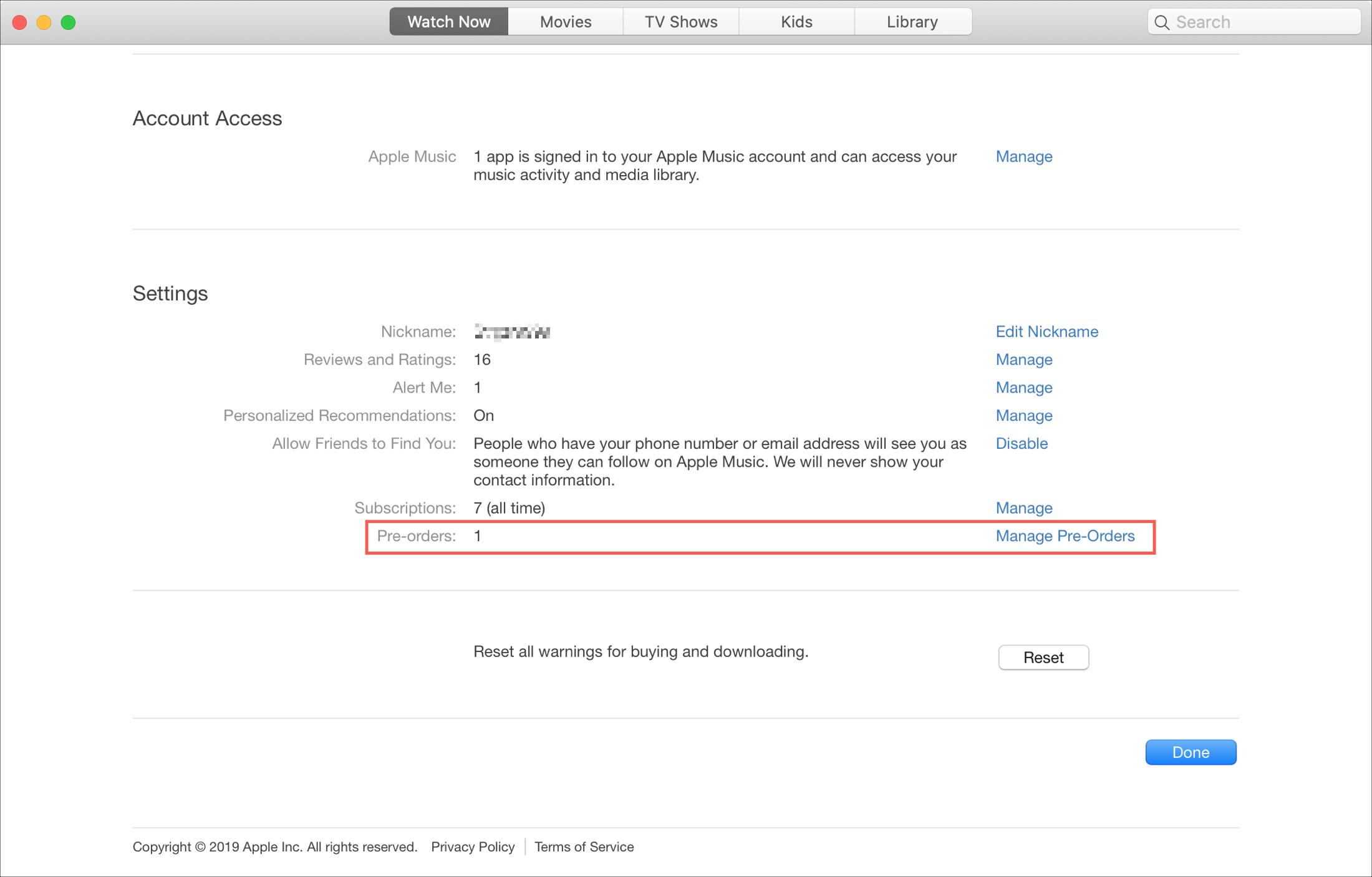 View TV app Preorders Mac