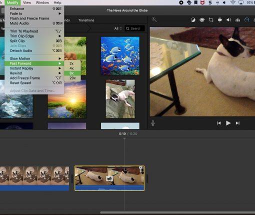 iMovie Fast Forward Speed Mac