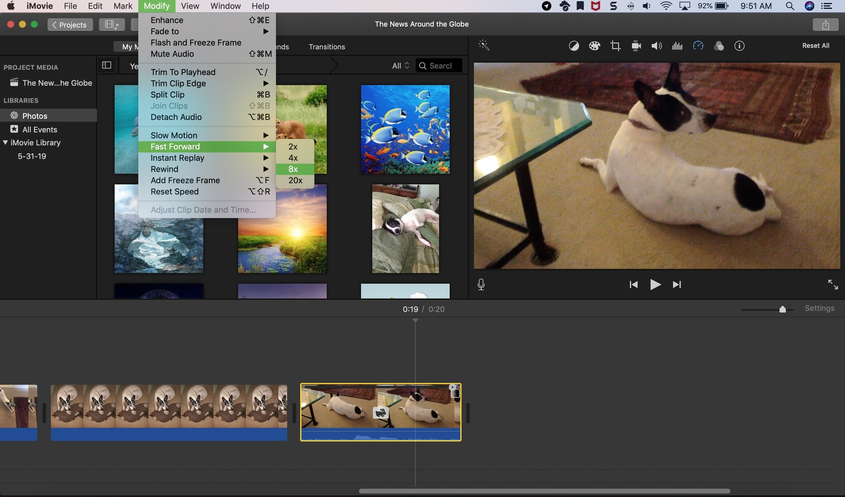 iMovie Fast Forward Speed Mac
