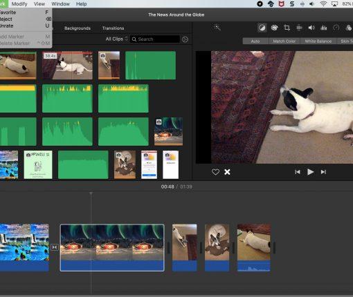 iMovie Favorite Reject Menu Bar Mac