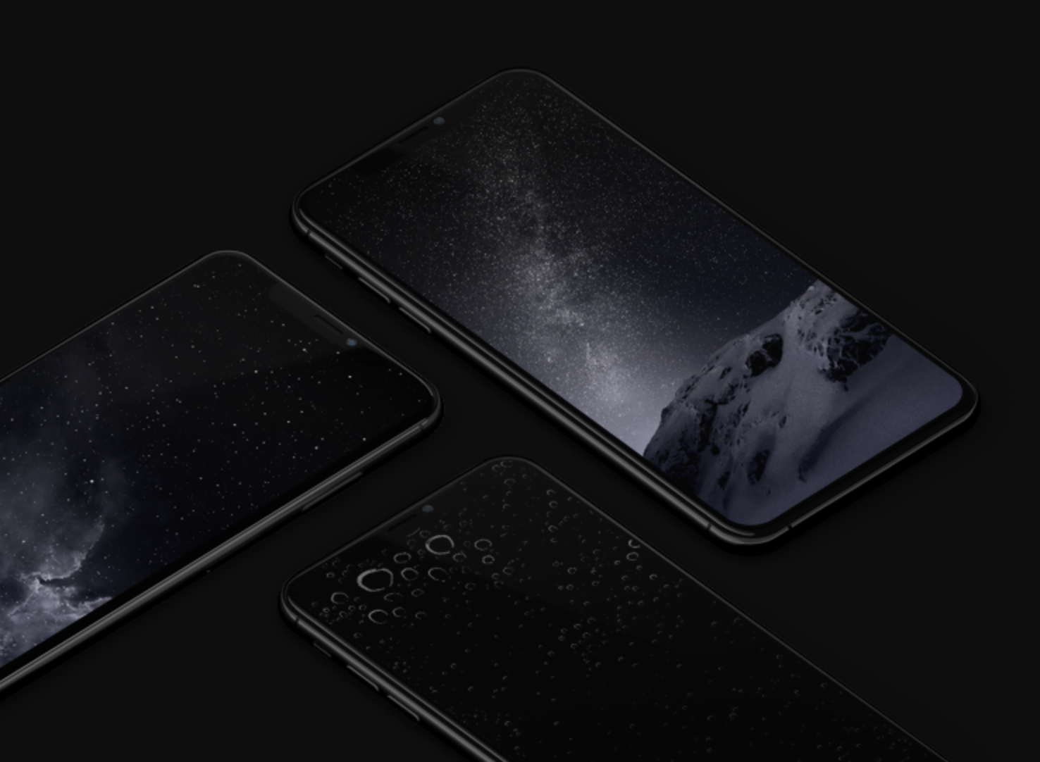 iOS dark mod iphone wallpaper ar72014 mock up