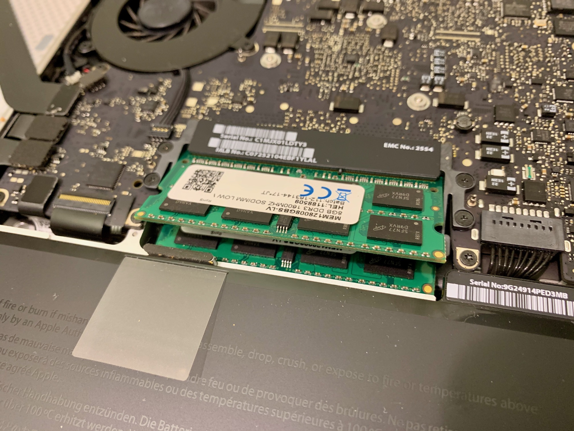 13-inch MacBook Pro RAM install