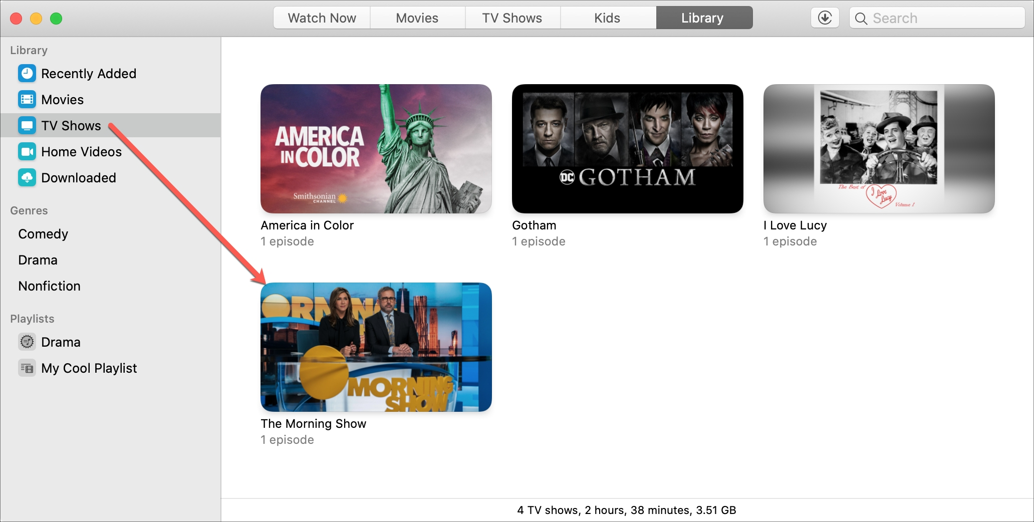 Apple TV+ Downloaded Show Mac