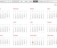 Calendar Year on Mac