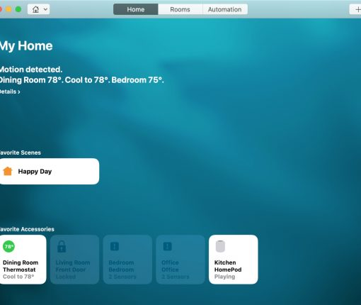 Create Scenes HomeKit Mac