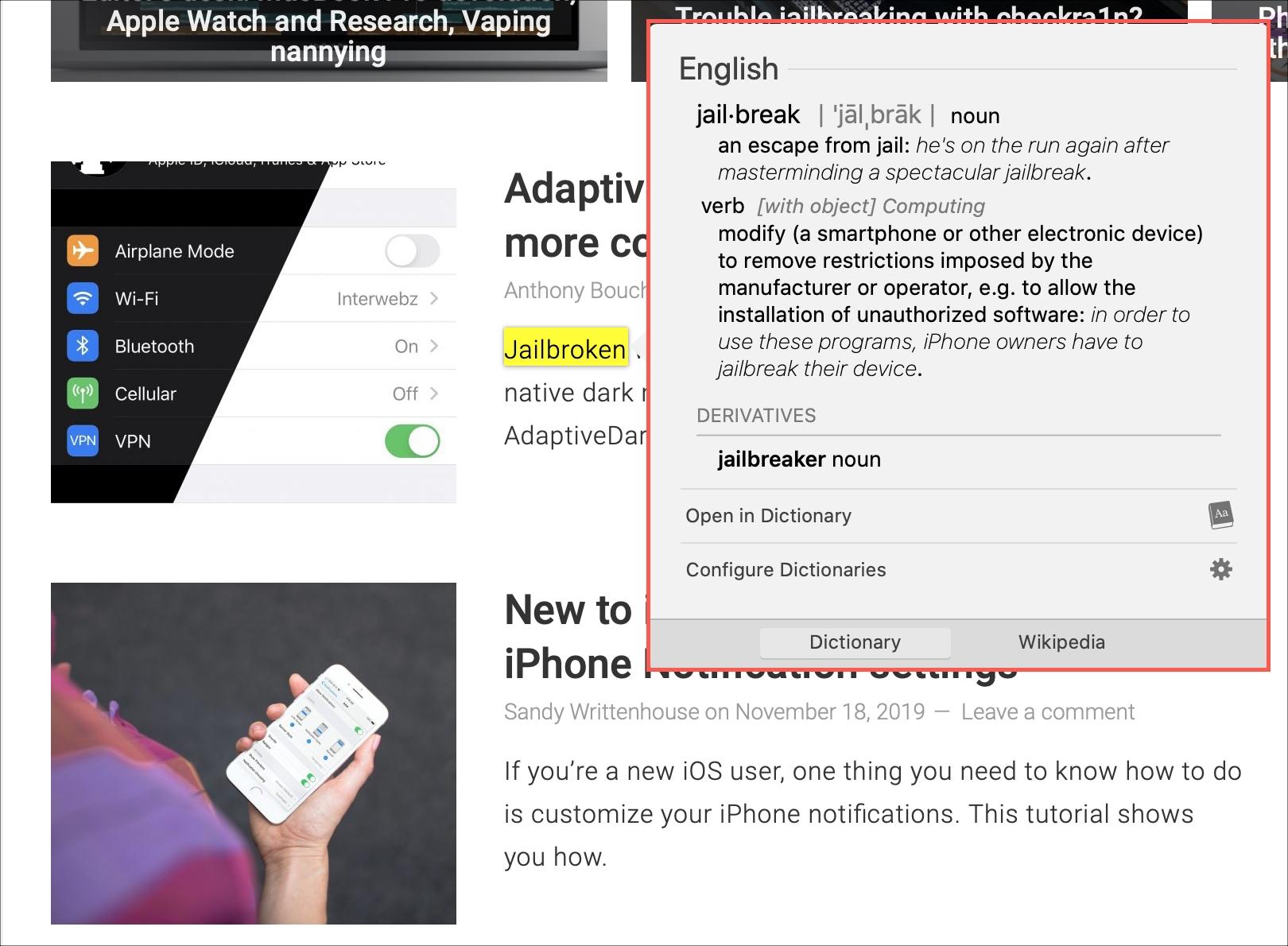 Dictionary Look Up Mac