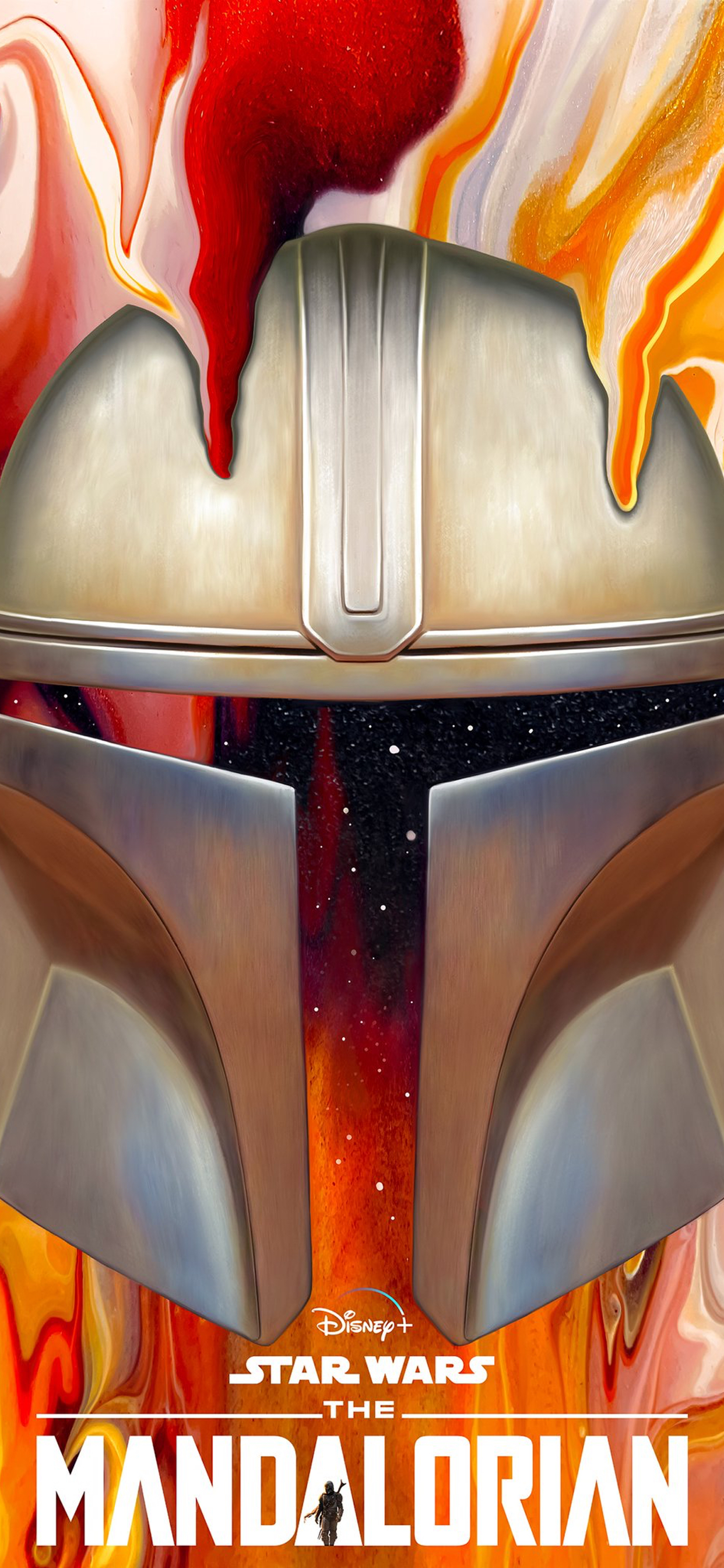 Disney Star Wars Mandalorian iPhone Wallpaper paint nickybarkla