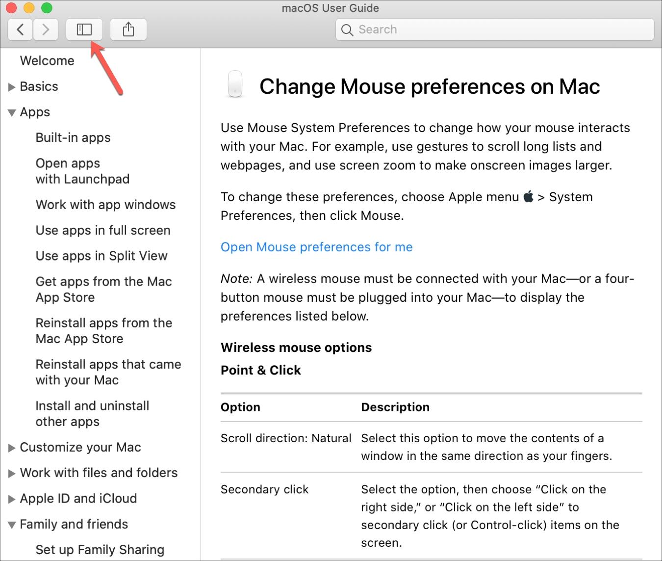 Mac Help TOC