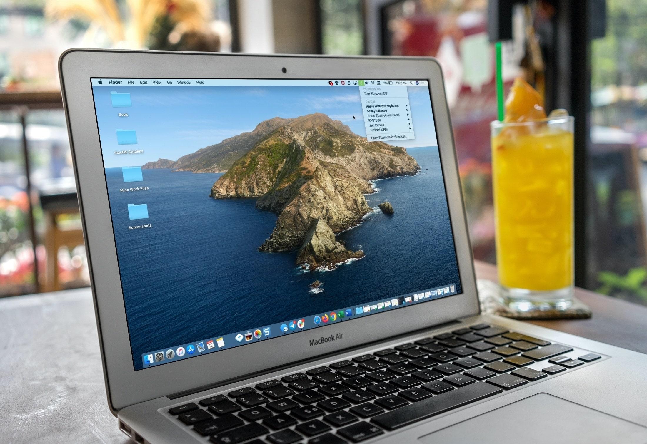 MacBook desktop - learn the menu bar