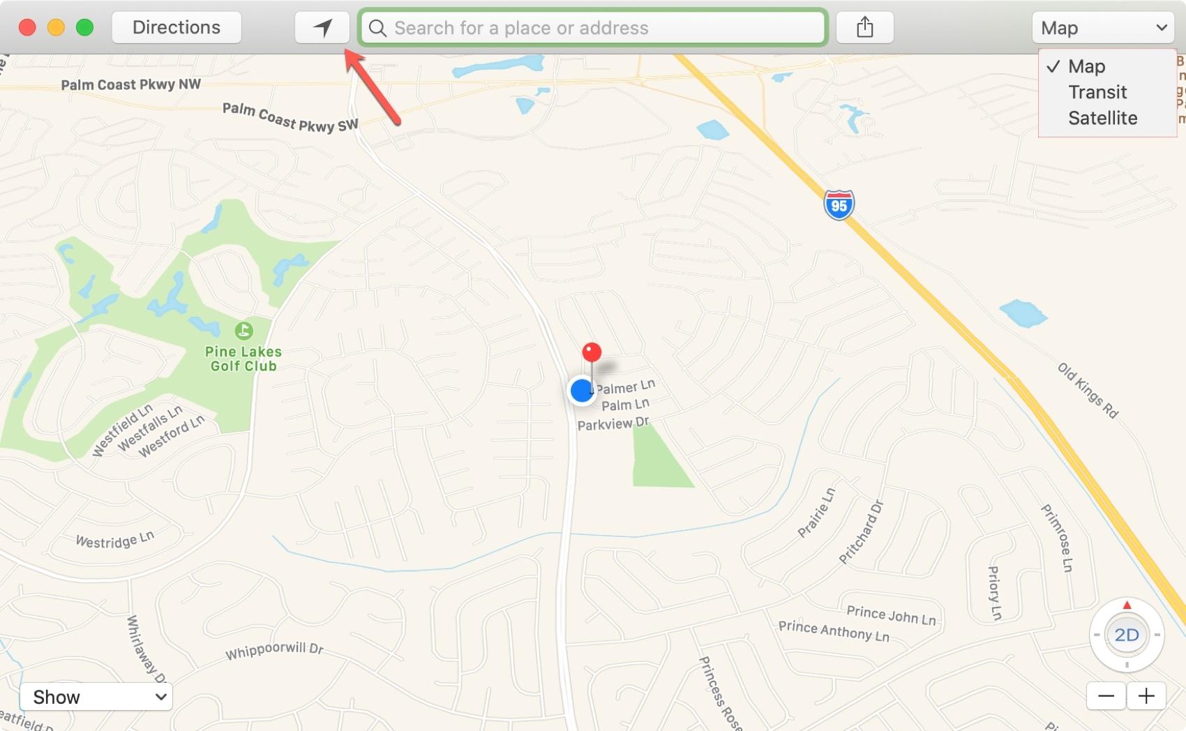 Map Type on Mac