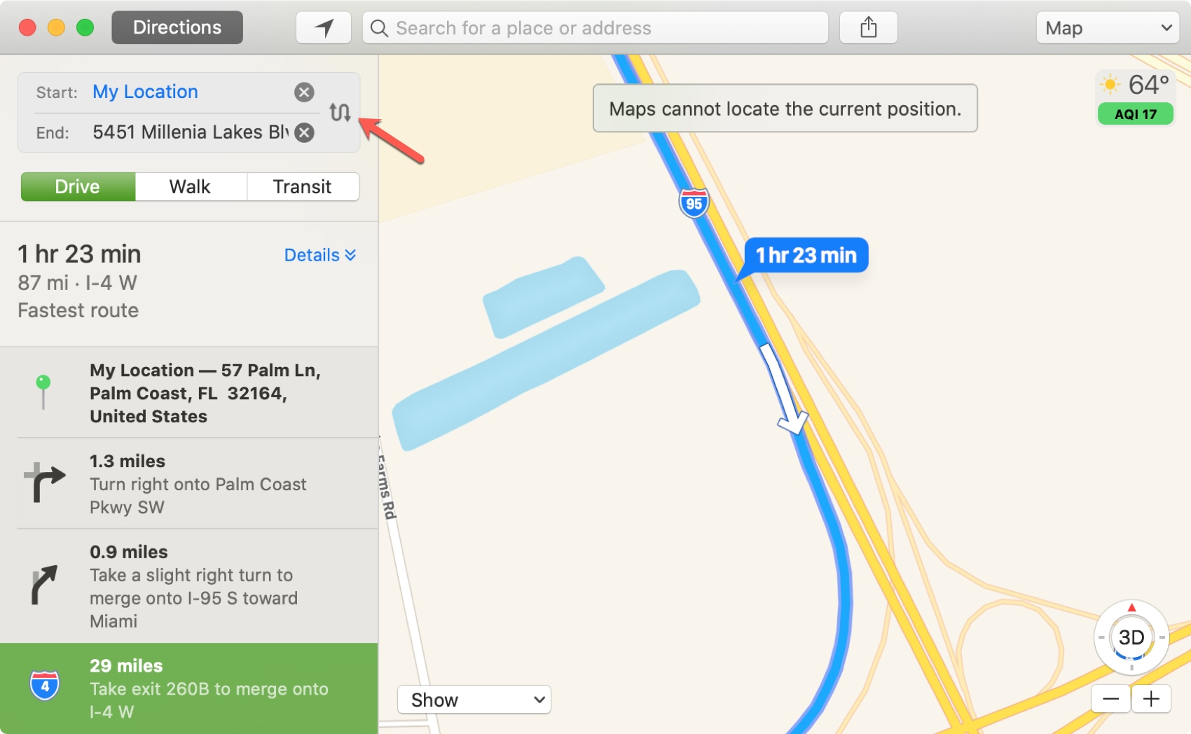 Map Step and Swap on Mac