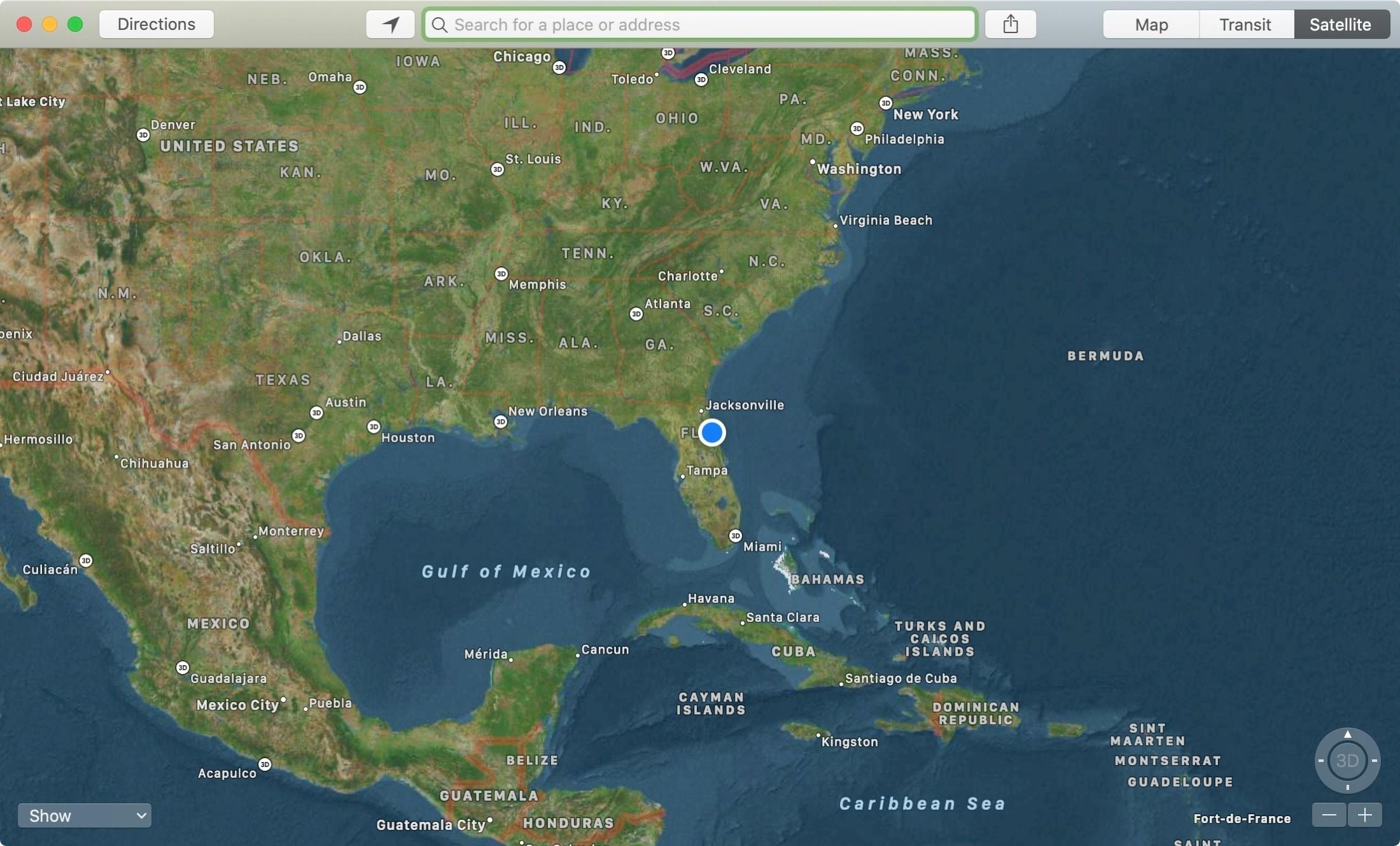 Maps App Satellite Mac