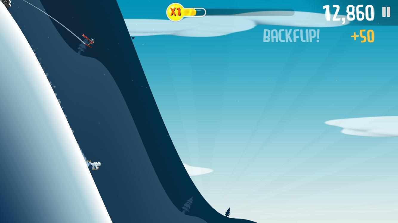 Ski Safari gameplay screen