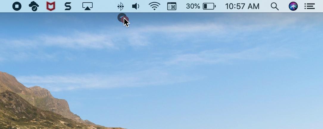 Rearrange menu bar icon