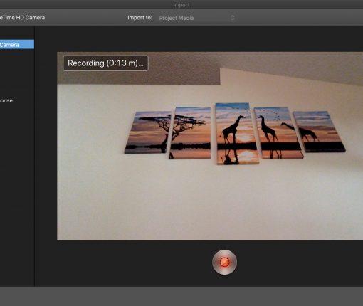 Recording Video FT Camera Mac