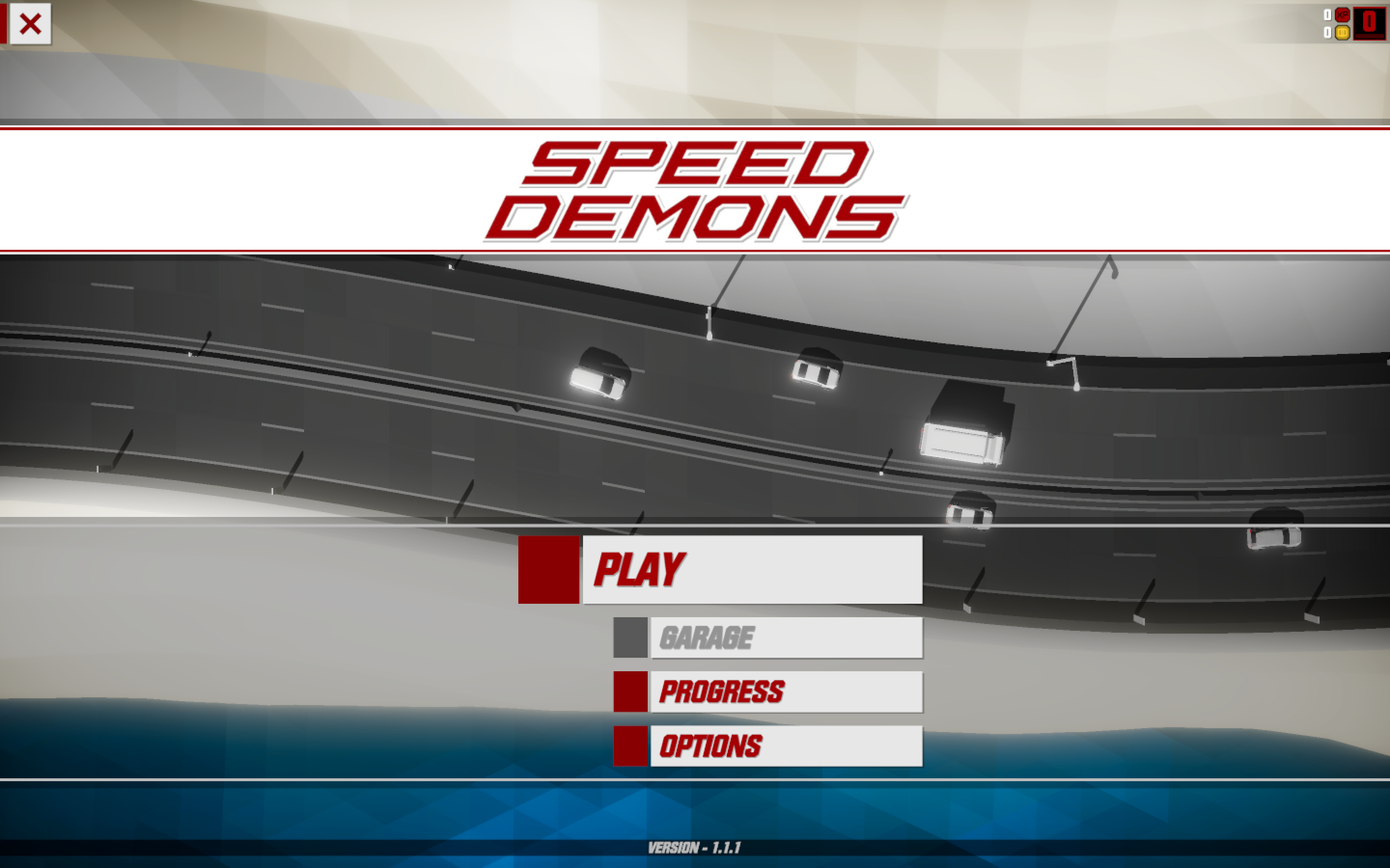 Speed Demons main screen