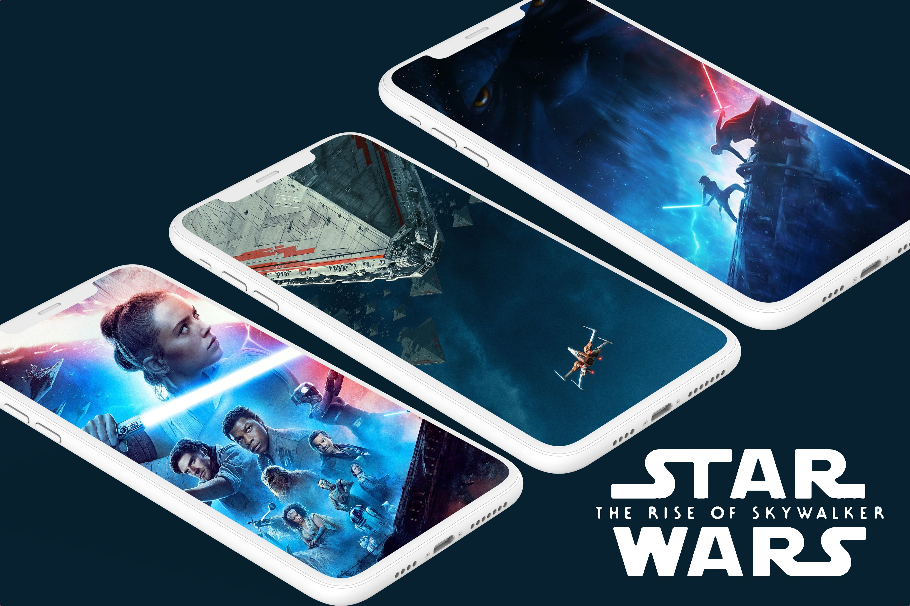 Star Wars Rise of Skywalker iPhone wallpaper idownloadblog mockup