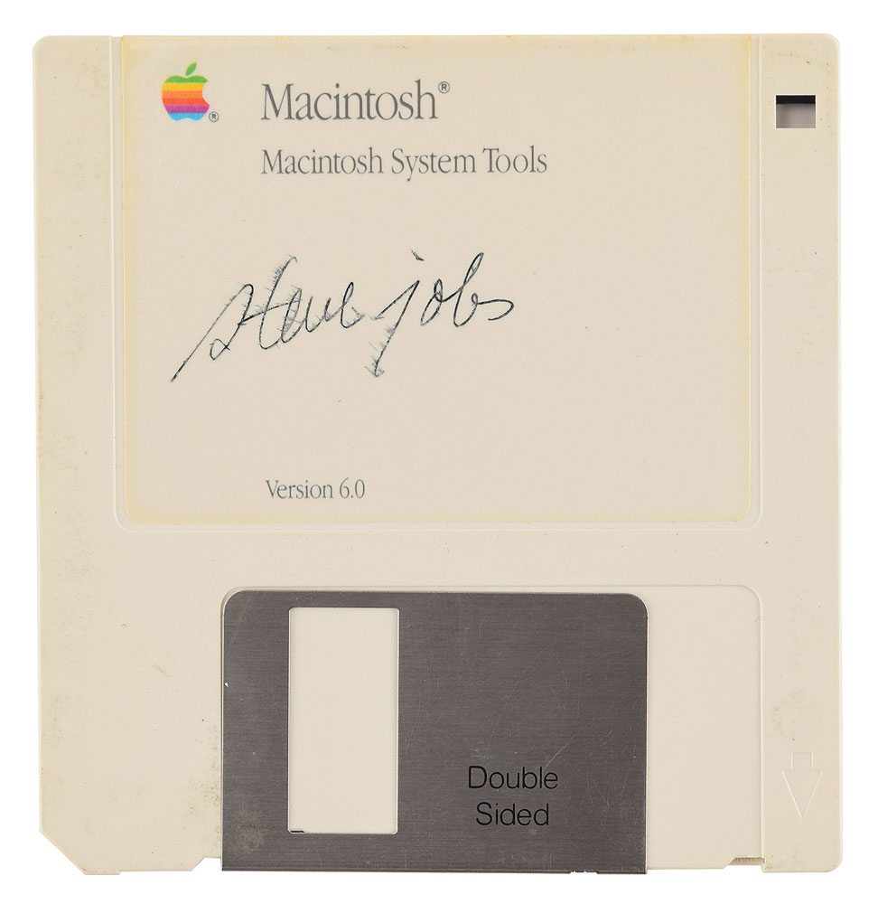 Steve Jobs-signed floppy auctioned off $84,115 – 11 times its expected price