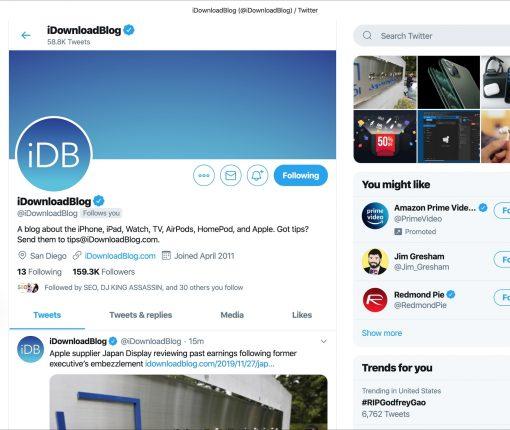 Twitter PWA on Mac